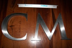 Stainless Steel - Polished Letters: