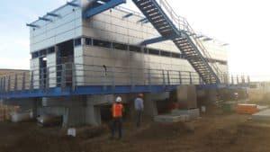 Powder-coated aluminum handrails for Bay Park E1 and E2